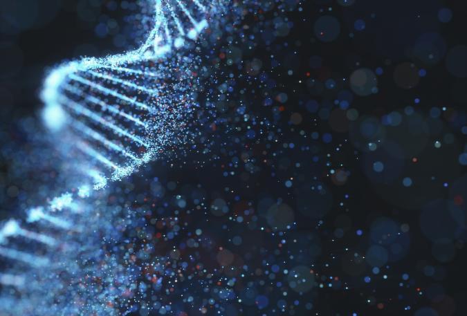 DNA molecule, illustration.