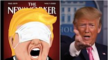 Trump wears a surgical mask over his eyes in next week's coronavirus-themed New Yorker cover