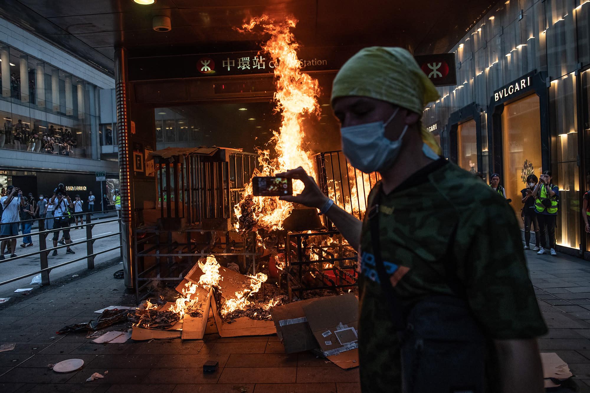 Police Fire Tear Gas, Protesters Start Blazes: Hong Kong Update
