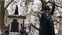 Darth Vader figure appears in Bristol on former Edward Colston plinth