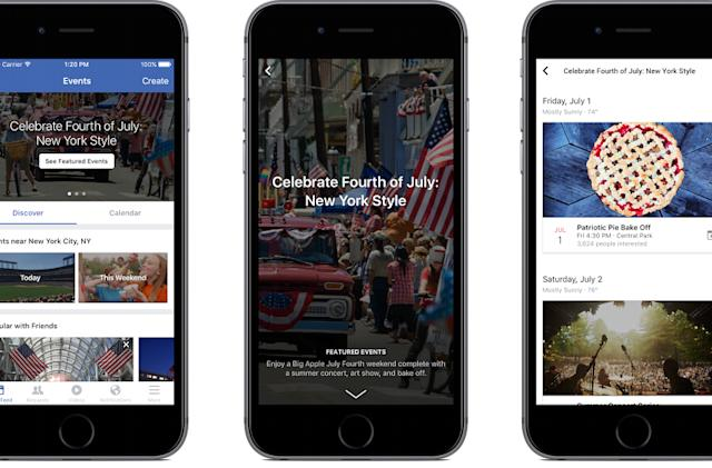 Facebook debuts hand-picked event listings in 10 cities