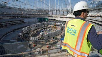 Stadium construction continues amid virus scare