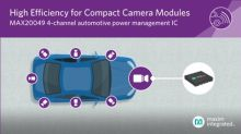 Maxim Delivers the Most Compact 4-Channel Automotive Power Management IC for Vehicle Camera Modules