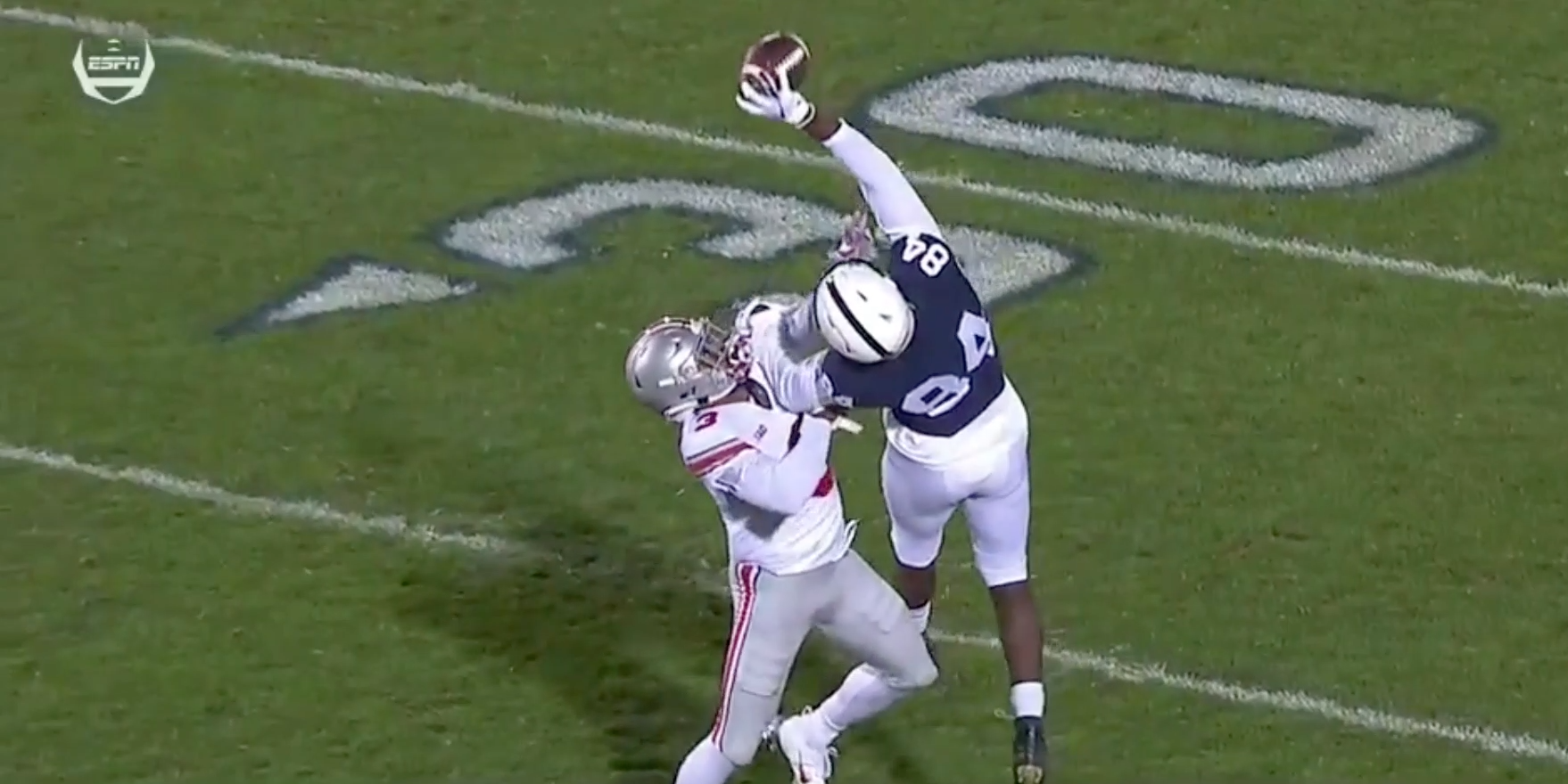 Penn State's Juwan Johnson makes incredible one-handed catch