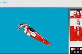 Wipeout Pulse website opens with skin editor