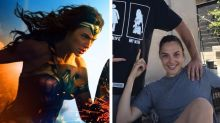 Gal Gadot's husband wears the world's greatest Wonder Woman T-shirt