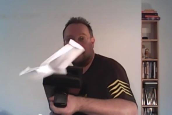 """<p>Just think of all those hours you wasted making paper planes by folding them. Now you can cut the process down to less than a second with this paper plane gun, which makes the planes inside and fires them for you.</p>  <p>The gun itself was made with the <a href=""""https://www.youtube.com/watch?v=J7K91g8yG_w&feature=youtu.be"""">genius of one man</a> and the aid of a 3D printer, and it's going to change the world of paper planes forever - once it gets beyond the prototype stage.</p>"""