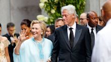Hillary Clinton Is A Mid-Summer Wedding's Dream In Kitten Heels And A Caftan