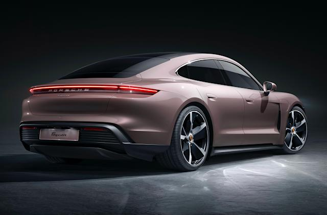 Porsche brings its cheaper rear-wheel-drive Taycan to the US