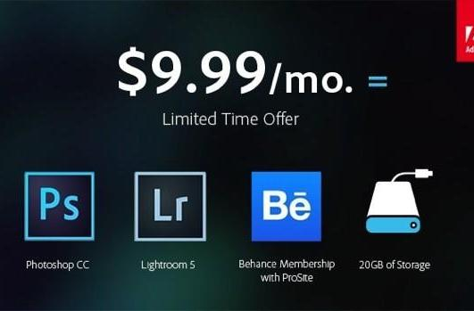 Adobe to offer $9.99/month Creative Cloud subscription for a limited time