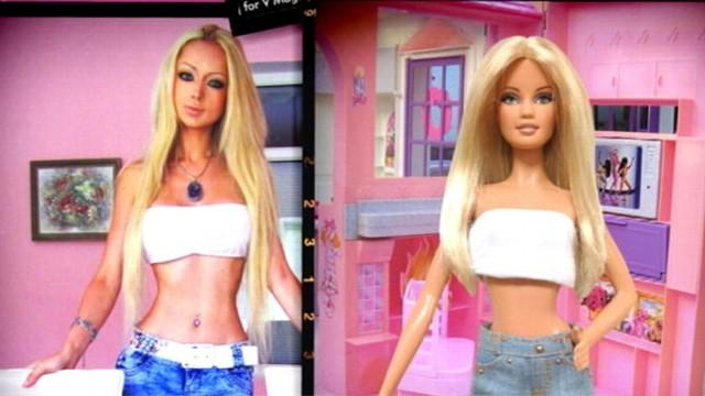 Real-Life Barbie Doll: Model Transforms into Doll-Like Image