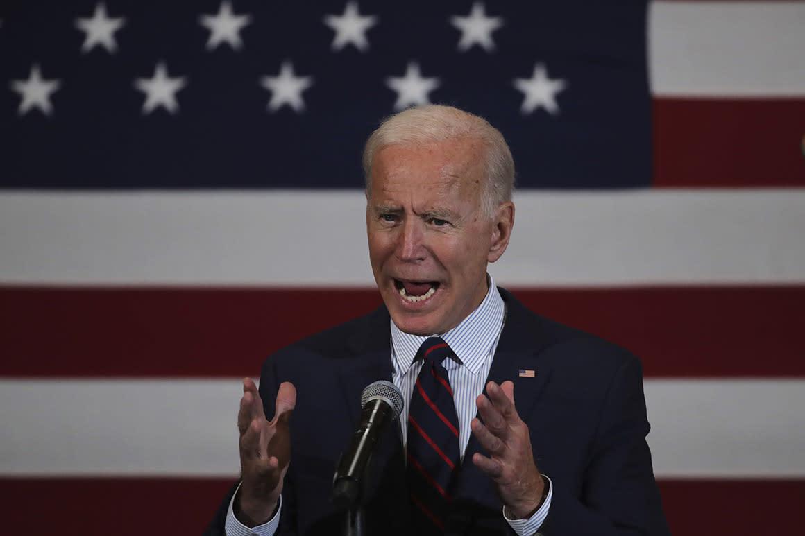 Why Biden declared war on Trump — and poked at Warren