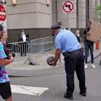 Philadelphia Woman Plays One-on-One With Local Officer During Protests