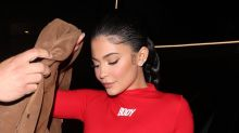 Kylie Jenner Shows How to Wear Statement Prints in Strappy Gold Gianvito Rossi Sandals