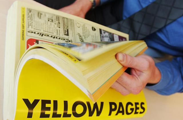 The internet has finally killed off the Yellow Pages