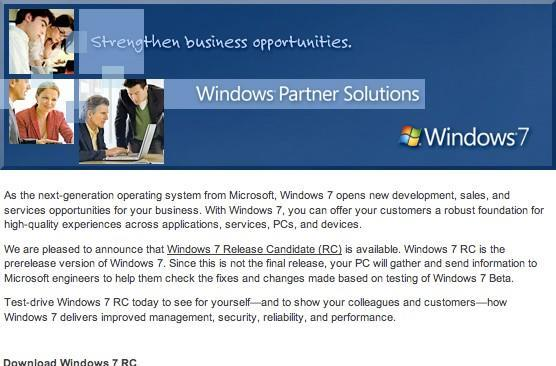 Windows 7 RC coming May 5 for public consumption, out now for MSDN / TechNet subscribers?