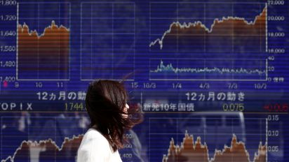Asian shares, U.S. stock futures dented by growth worries