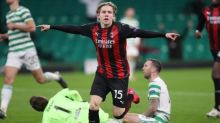 Jens Petter Hauge's late strike for Milan ends Celtic's comeback hopes
