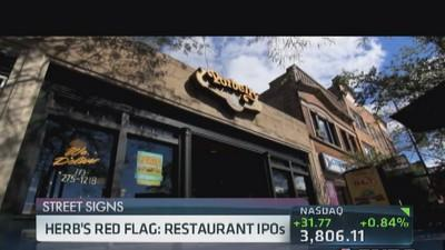 Herb's red flags on restaurant IPOs
