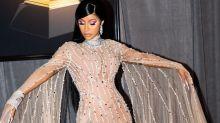 Cardi B usa colar de R$21 milhões no red carpet do Grammy Awards