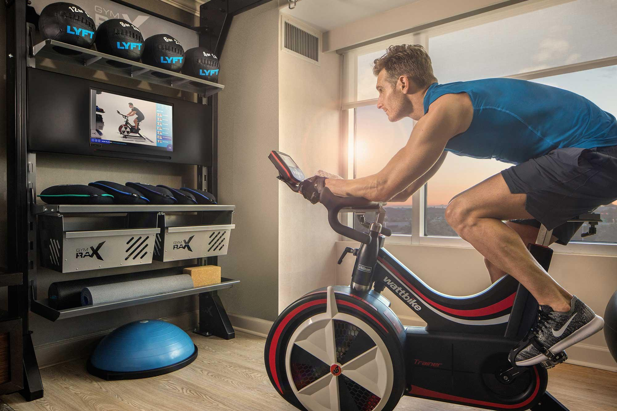 There may be a mini gym inside your next hotel room