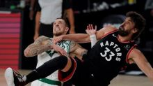 Raptors beat Celtics 100-93 to even playoff series at two games apiece