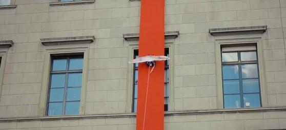 Paraswift climbs buildings, jumps, lives to tell the tale (video)