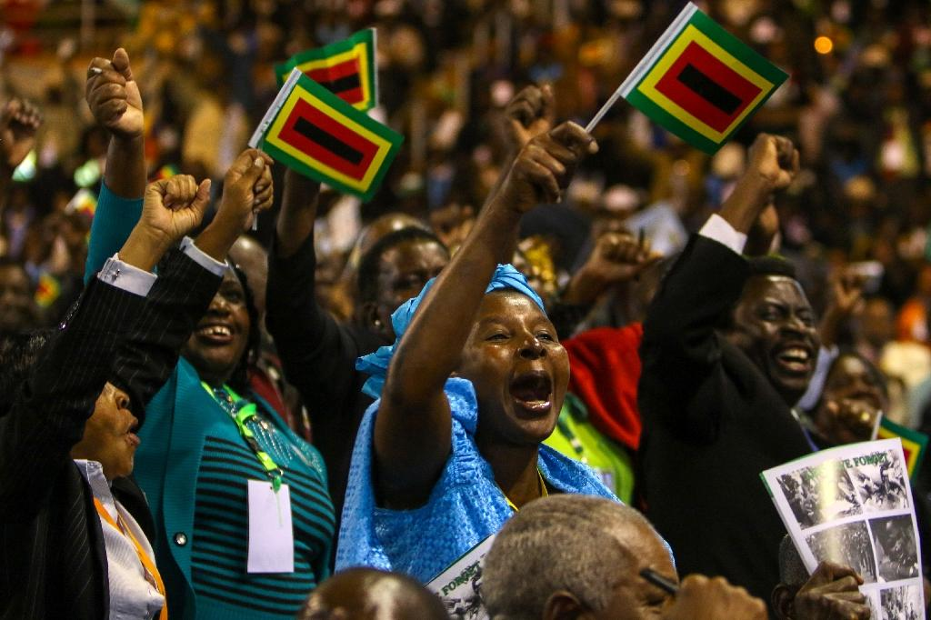 """For decades the war veterans have propped up President Robert Mugabe as the """"heart and soul"""" and """"foot soldiers"""" of the ruling Zanu-PF party (AFP Photo/Jekesai Njikizana)"""