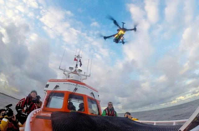 UK lifeboat crew tests drones as search and rescue helpers