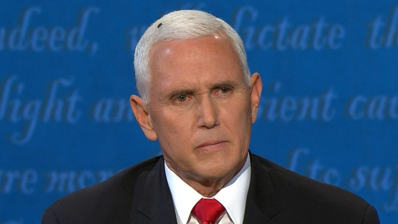 Mike Pence fly moment gets attention at vice presidential ...