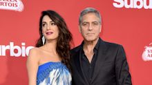 Amal Clooney and her mother glam up for Suburbicon red carpet