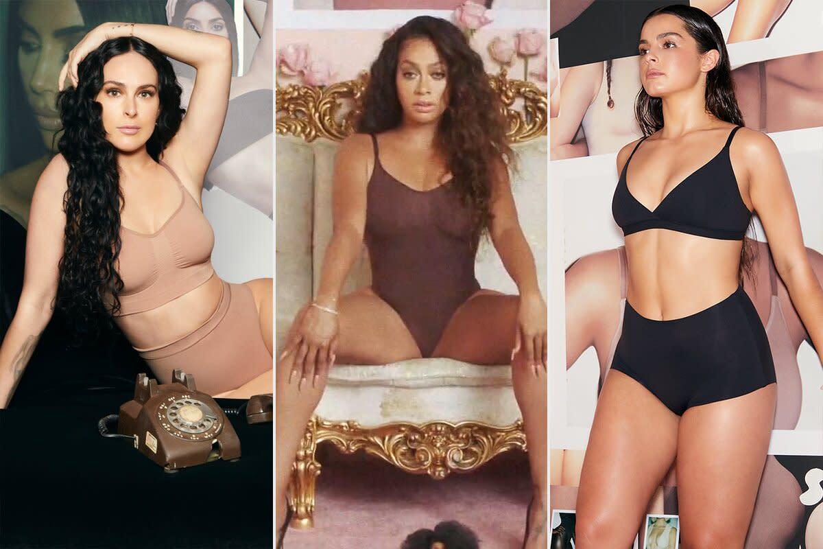 Kim Kardashian enlists celebrity pals for Skims one-year