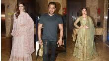 In Pics: Salman Khan, Kriti Sanon Spotted at Bollywood Diwali Bash