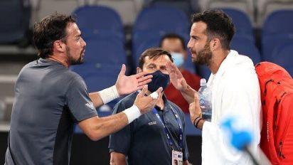 """La lite tra Fognini e Caruso agli Australian Open. """"Hai avuto c..."""" """"Non rompermi i c..."""""""
