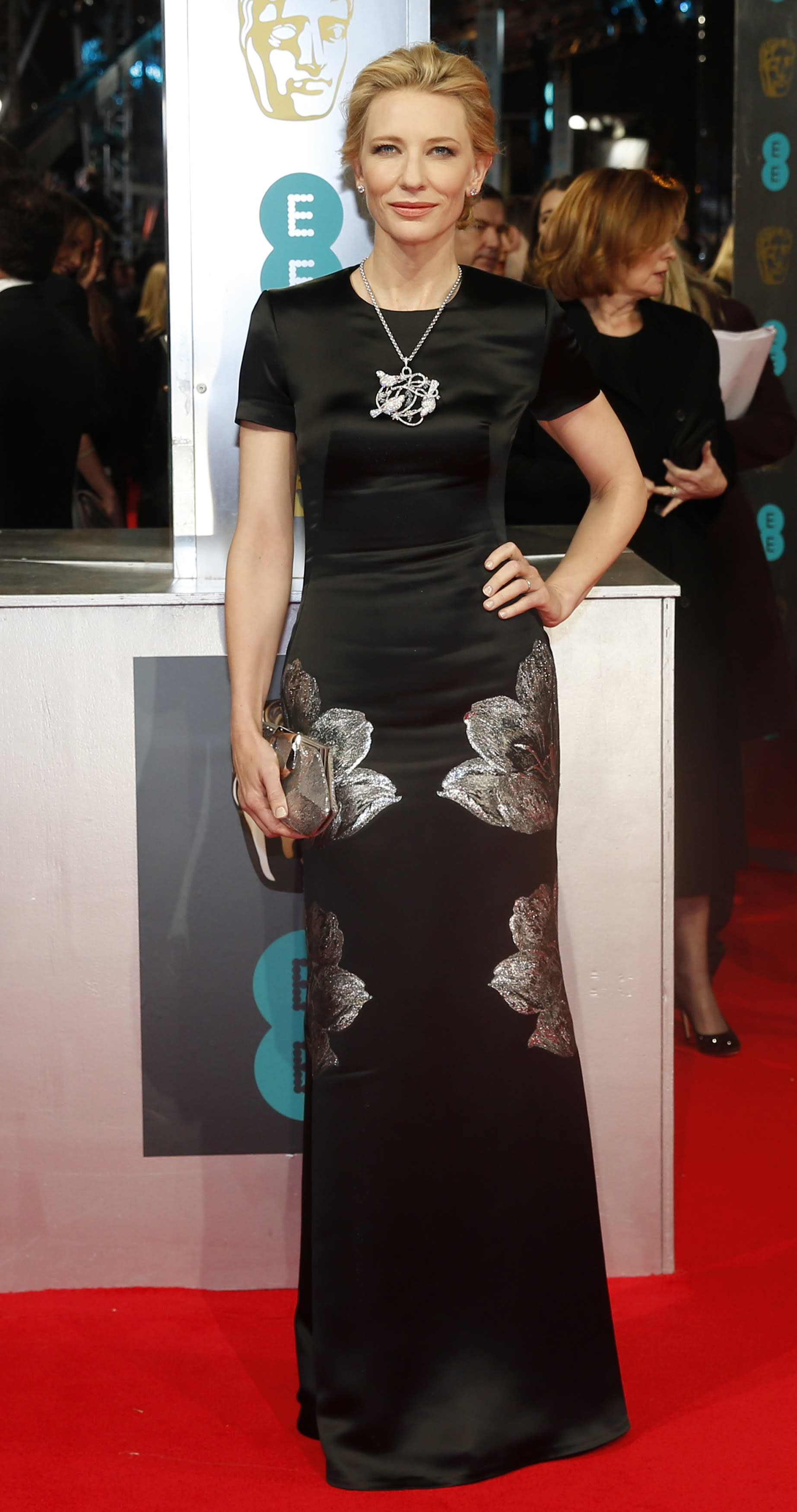 Stars Step Out on Red Carpet for British Academy Film Awards 2014