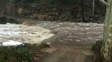 Northern Arizona's Oak Creek Canyon Crests Over 12 Feet After Heavy Rainfall