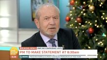 Lord Sugar says he will leave the country if Jeremy Corbyn becomes Prime Minister