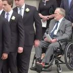 George H.W. Bush is 'alert and talking' as he moves out of intensive care