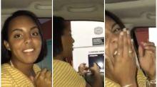 Adolescente viraliza ao cantar pedido em drive-thru