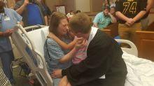 Emotiva graduación: así honró el último deseo de su madre en estado terminal