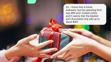Woman demands new Secret Santa gift after Googling the price