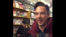 Benedict Cumberbatch Surprised Fans In Comic Store As Doctor Strange In New Video