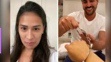 Simone ganha kit erótico de Luísa Sonza e marido se empolga