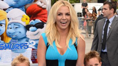 Britney Skips 'Smurfs' Press