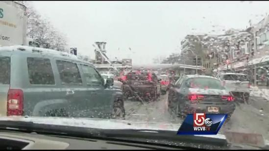 Massive delays for drivers heading out of Boston on Route 9