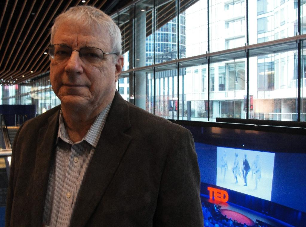 Nonhuman Rights Project president and attorney Steven Wise pictured in Vancouver, Canada on March 20, 2015, where he spoke at a TED conference (AFP Photo/Glenn Chapman)