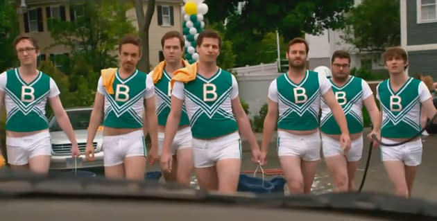 our favorite male cheerleaders an ode to andy samberg and