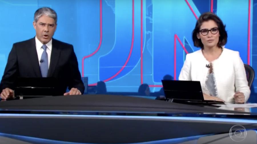 No Jornal Nacional, Globo responde áudio de Bolsonaro