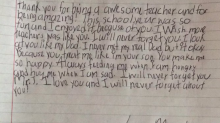 Student's sweet handwritten letter brings teacher to tears