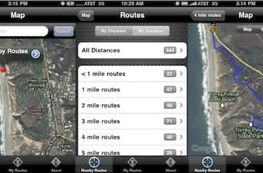Discover new running trails with the WalkJogRun app